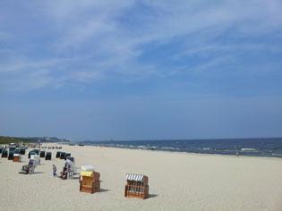 Strand auf Usedom als Ziel von den Hotels Stralsund